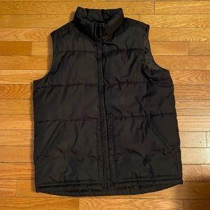 Old Navy Boys Black Puff Vest - XL/12-14
